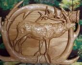 WOOD WALL ART Elk Lodge D...