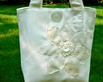 Brides Wedding Bag, Wedding Tote Bag, Wedding Handbag, Ivory Wedding Bag, Ivory Purse, White Wedding Bag, Brides Handbag, Wedding Purse
