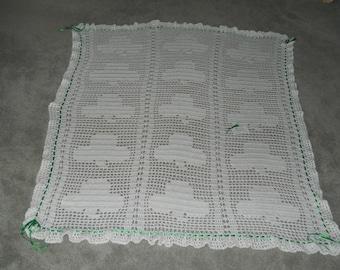 Crocheted Irish Shamrock Wedding/Anniversary/Grandparent/House Warming/Graduation/Retirement/Birthday/Christmas/Special Occasion/Etc. Afghan