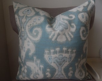 Ikat design pillow cover, decorative pillow, accent pillow,printed fabric front and back