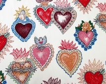 Fabric, Alma y Corazon, Heart and Soul, Alexander Henry, Mexican Folklorico, Guadalupe Sacred Hearts, By the Yard