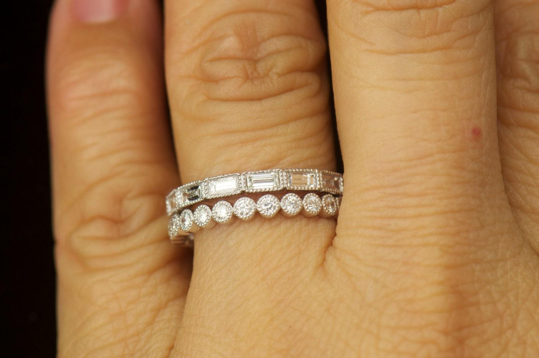 Ruth And Lorena Set Diamond Wedding Bands Bezel