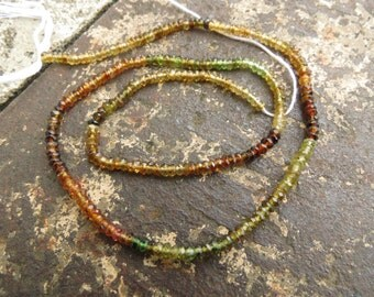 """DESTASH Full 14"""" Strand Petro Tourmaline 2.5mm Faceted Rondelle Beads"""