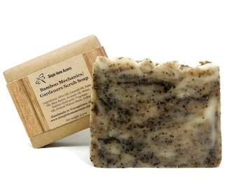 Scrub Soap, Mechanics Soap, Gardeners Soap,  Bamboo Soap, Foot Soap, Handmade Vegan Soap, Gift under 10