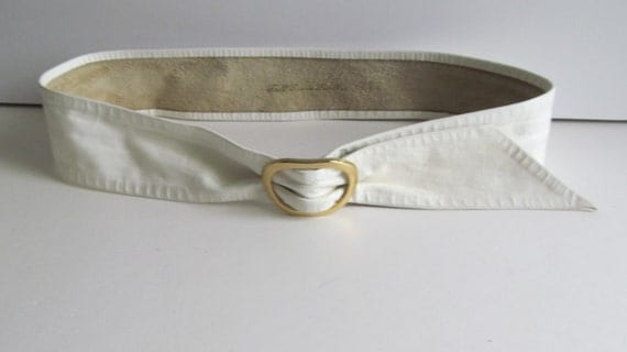1980s white leather belt wide white belt blouse belt wide