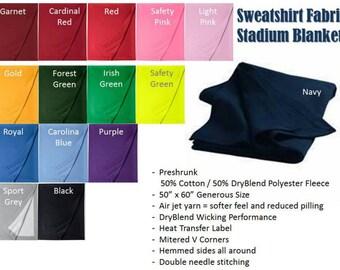 Personalized Stadium Blankets  - Sweatshirt Fabric