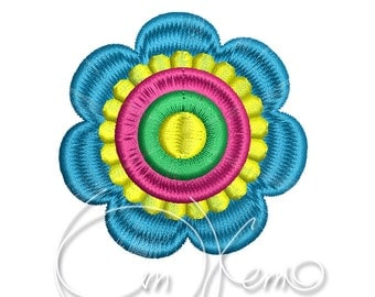 MACHINE EMBROIDERY DESIGN - flower, flower embroidery design