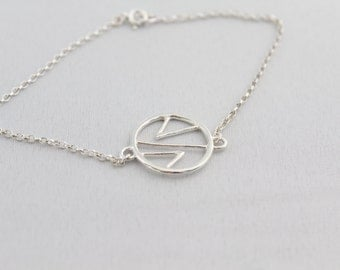 Handmade Sterling Silver Geometric Bracelet