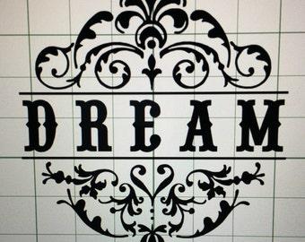 Dream Wall Decal-Dream Wall Art-12x12