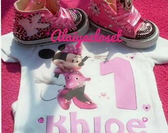 Inspired Minnie Mouse Converse & Onesie (Infant) Set