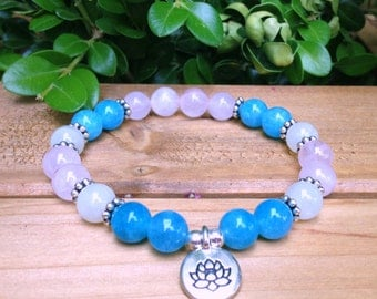 Calm & Confident Fertility Bracelet, Fertility Jewelry, Infertility Bracelet, Rose Quartz, Moonstone, TTC, Healing Crystals, Pregna