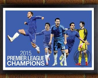 Chelsea BPL Champions Poster - Chelsea FC - Chelsea Soccer Poster- 8x10, 13x19, poster, art, wall decor, home decor, premier league
