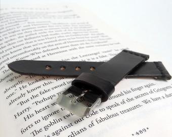 Black watch strap Wrist watch leather strap Custom engraved watch band 18 mm 20 mm watch strap 22 mm 24 mm watch strap Classic watch strap