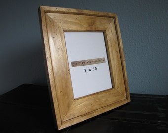 Clear Pine Picture Frame  - 8 x 10 - Handmade & Hand Distressed