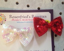 Double crochet flower clip with bling centerpiece