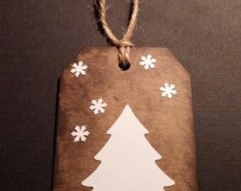 Christmas Gift Tags -- Handmade in USA; Set of 6