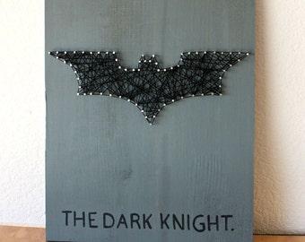The Dark Knight String Art, Batman Art, DC Comics Art