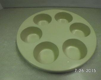 Vintage Anchor Hocking Microware muffin pan