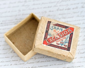 Antique Tiny cardboard Box - Excelsior