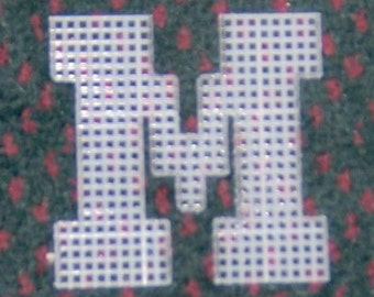 4 inch pre cut plastic canvas letters M