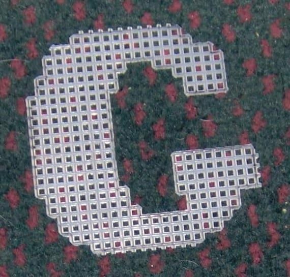 4 Inch Pre Cut Plastic Canvas Letters G