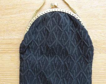 Vintage Black 1940's Little Handbag - Very Cute!!
