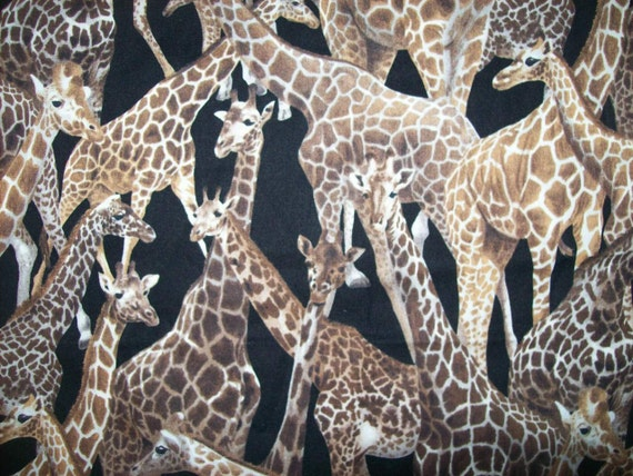 11 >> By the Yard Giraffe Fabric Living Wonders by Fabri quilt