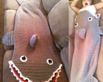 Shark sack blanket sleeping bag