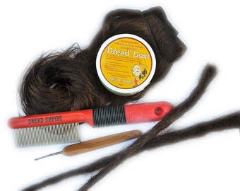 Human Hair Dreadlock Extension DIY Kit