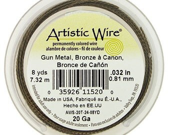 Artistic Wire Twisted Gun Metal Color 20ga - 8 Yard Spool  (WR52920)