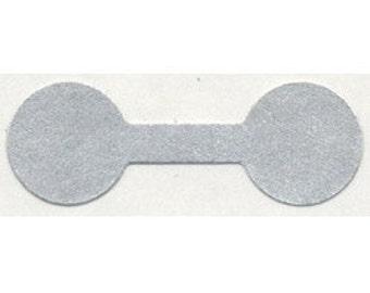 Silver Tyvek Dumbbell Tags (Pkg of 1000)  (DTA7072)