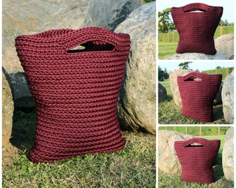 Crocheted rope bag / rope handbag / crocheted handbag / summer crocheted bag