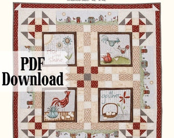 Rise and Shine Quilt Pattern - PDF Download