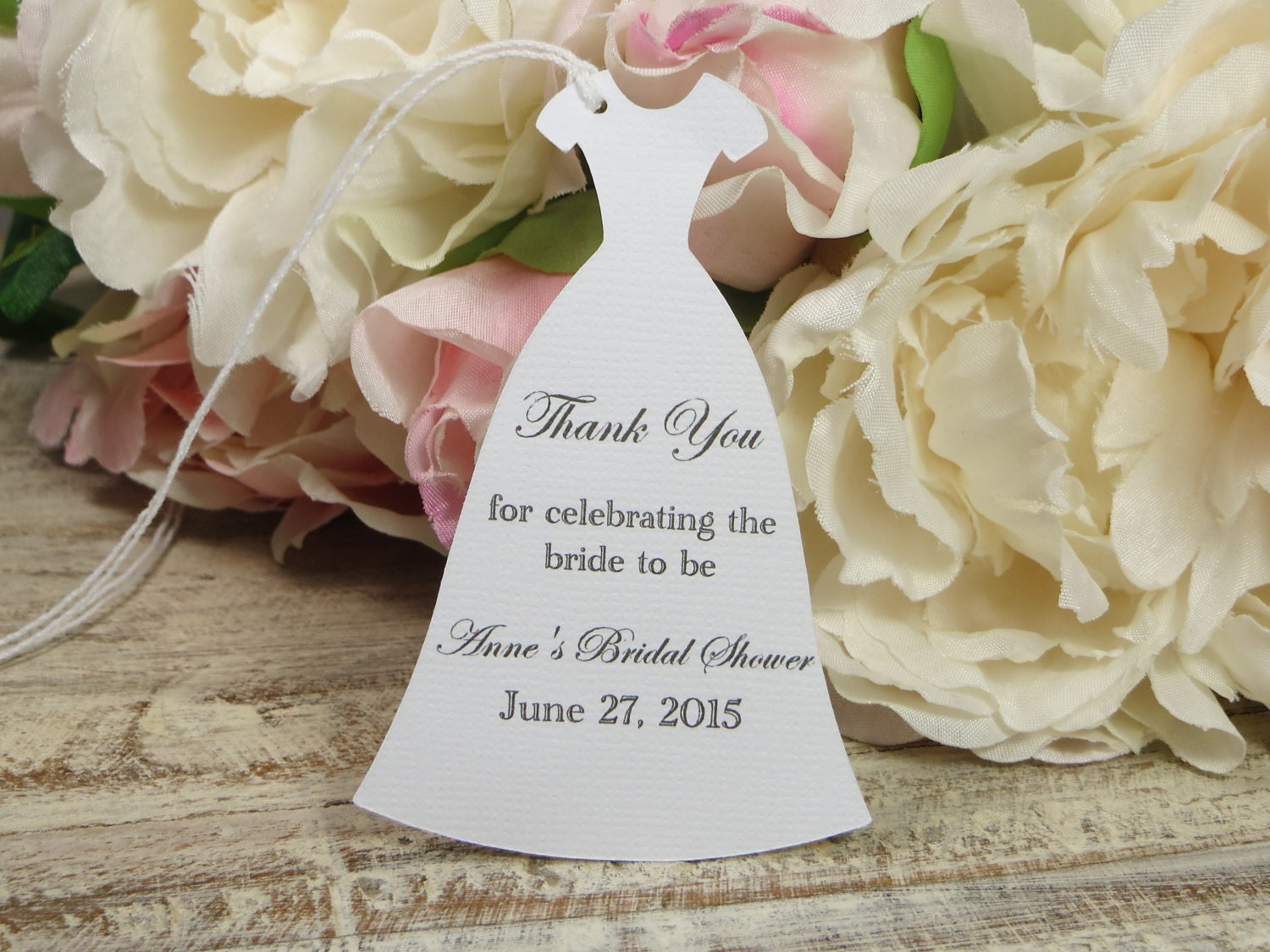 Thank You Quotes For Wedding Shower Gifts : Personalized Bridal Shower favor tags Custom Bachelorette