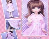 BJD YO-SD 1/6 Pink polka dot coat / dress