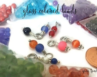 Glass Colored Beads, School Colors, Team Colors, CANNOT ORDER ALONE, Add-On Only