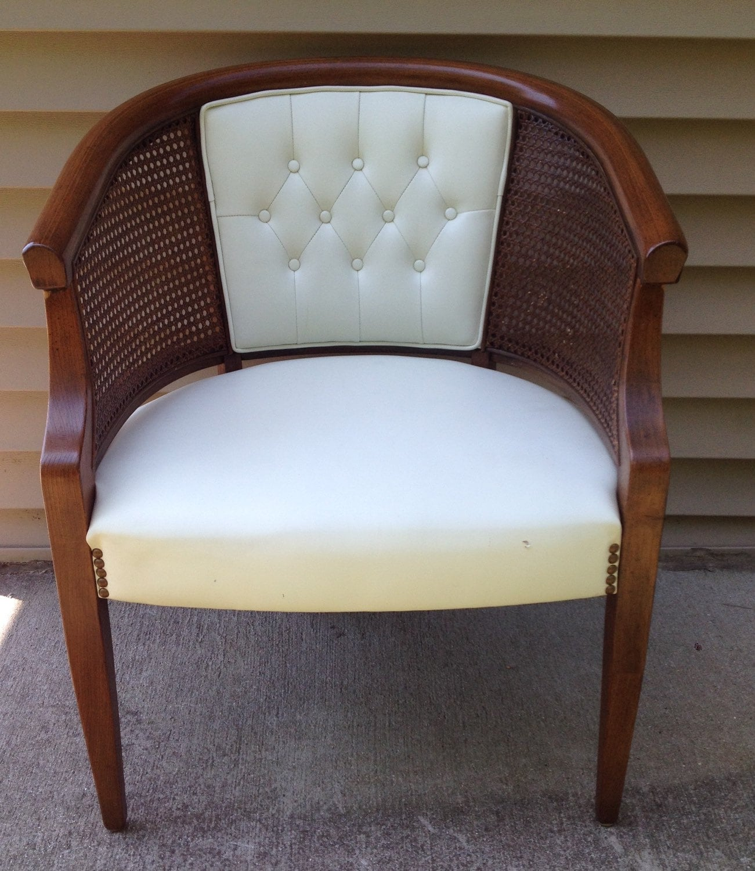 Midcentury Cane Bucket Chair Wicker Accent Chair Haute