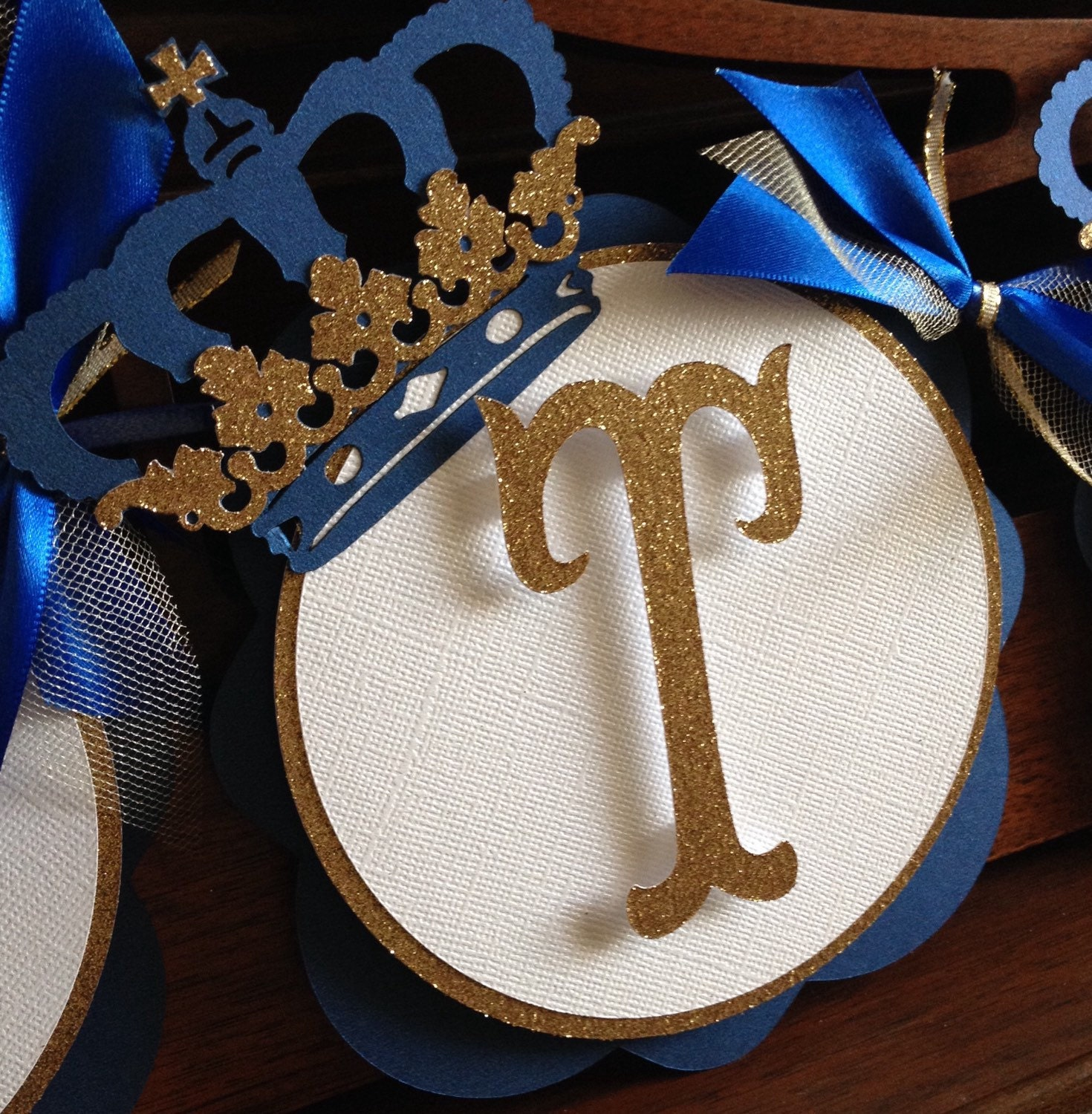 prince royal baby shower banner royal blue and gold