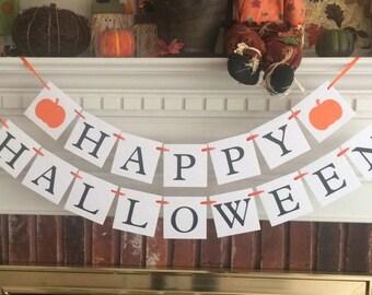 Happy Halloween banner, halloween decor, Halloween banner, halloween decoration, fall decor, fall decorations, fall banner, halloween party