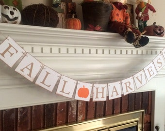 Fall harvest banner, pumpkin patch banner, halloween decor, halloween decoration, fall decor,fall decorations,pumpkin banner,autumn banner