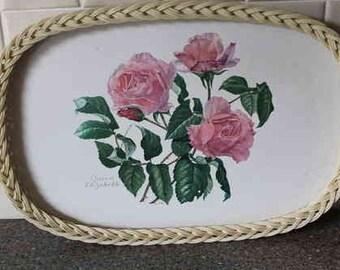 Retro Floral Tray