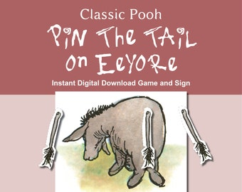 Classic Pooh Pin the Tail on Eeyore Game