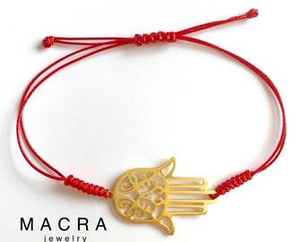 Hamsa Red String bracelet; Red String Kabbalah bracelet; Red String amulet