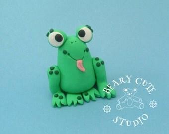 Frog Cake Topper, Frog figurine