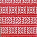 Nordic Sweater Christmas Wrapping Paper, Red Background with White Snowflakes Holiday Gift Wrap 10 ft x 2 ft. / 3.048 m. x .60 m. Roll