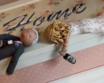 drunk bride and groom wedding cake cake topper etsy 13759