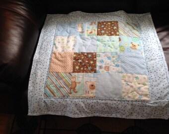 Teddy Bear boy baby quilt