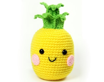 PATTERN: Pineapple Amigurumi Crochet Pattern - PDF Digital Download