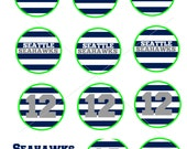 Seattle Seahawks Cupcake & Food Toppers Printable. INSTANT DOWNLOAD