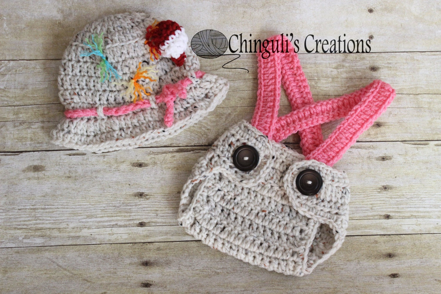 Baby girl fisherman crochet outfit hat gone fishing hat for Toddler fishing hat